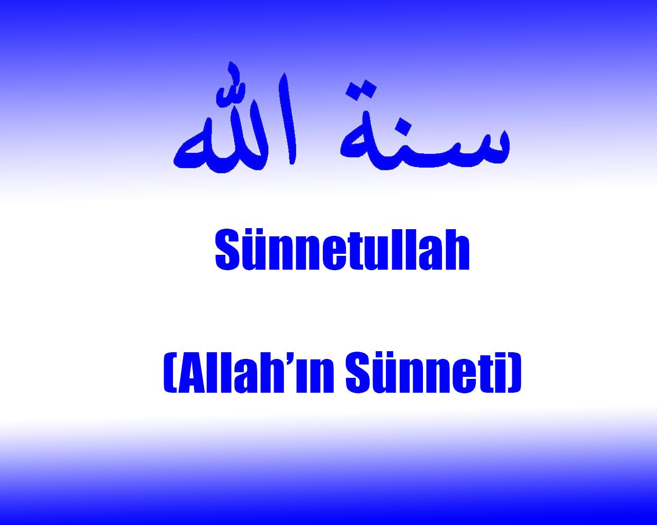 Sünnetullah (Allah'ın Sünneti)