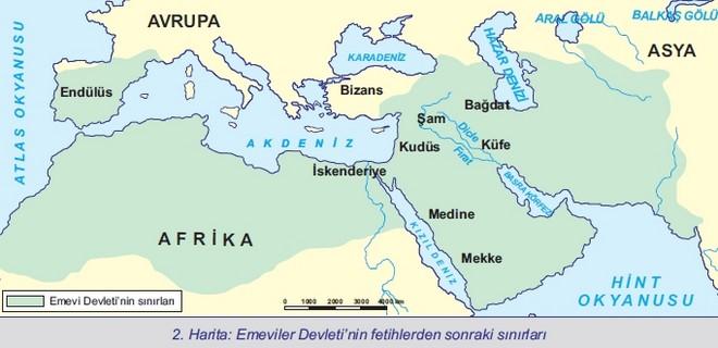 Emevi Devleti Sınırları